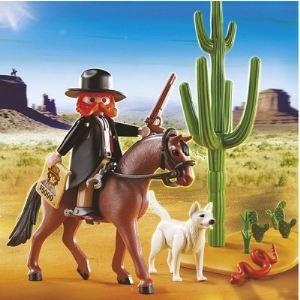 Playmobil 5251 Western - Shérif à cheval avec chien