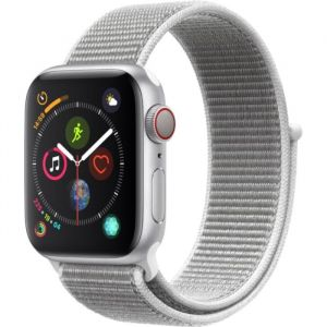 Apple Watch Series 4 + Cellular - 40mm - Alu Argent / Boucle Sport Coquillage