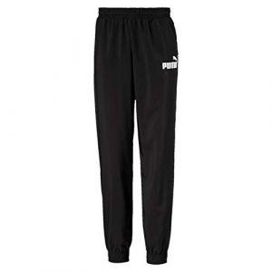 Puma Pantalon de survêtement Essentials tissé pour garçon, Noir, Taille 110