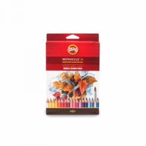 Koh-I-Noor Crayons de couleur aquarellables Mondeluz - 36 stylos