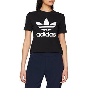 Adidas Trefoil - T-Shirt - Femme - Noir - 36