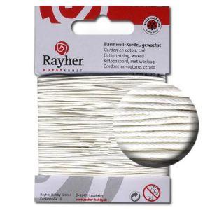 Rayher Cordon coton ciré - blanc 1 mm x 20 m