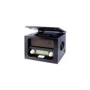 Roadstar HRA-1520MP - Radio AM/FM en bois avec lecteur CD/MP3