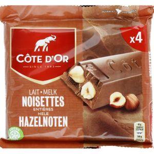 Côte d'Or Cote 4x45g bar lait nois entiere pk