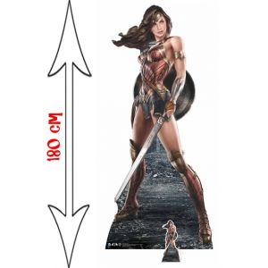 Figurine géante en carton Wonder Woman (180 x 80 cm)