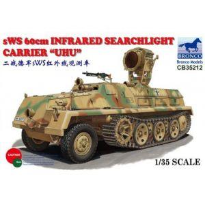 Bronco Models CB35212 - Maquette militaire Semi-chenillé allemand sWS Projecteur de recherche infrarouge UHU