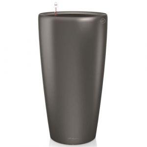 Lechuza Pot Rondo Premium 32 - kit complet, anthracite métallisé Ø 32 cm