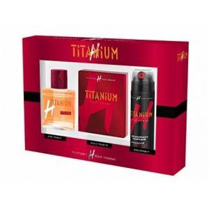 Titanium H - Coffret eau de toilette, déodorant et après-rasage