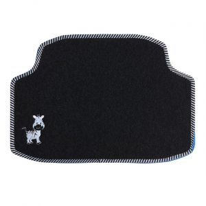 Custo Auto 1 tapis arrière de voiture universel moquette POL Zèbre brodé noir
