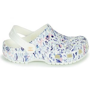 Crocs Sabots LIBERTY LONDON X CLASSIC LIBERTY GRAPHIC CLOG K - Couleur 36 / 37,28 / 29,30 / 31,32 / 33,34 / 35,24 / 25,37 / 38,19 / 20,23 / 24,27 / 28,29 / 30,33 / 34,22 / - Taille Blanc
