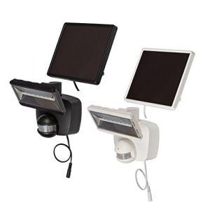 Brennenstuhl Lampe LED solaire SOL 80 plus IP44 avec détecteur de mouvements infrarouge blanc