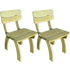 VidaXL Chaises de jardin 2 pièces en bois pin imprégné