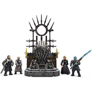 Mega Construx Game of Thrones Le Trône de Fer avec 4 figurines, jeu de briques de construction, 260 pièces, 16 ans et plus, GKM68