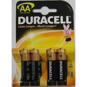 Duracell 4 piles alcalines AA LR06 Plus