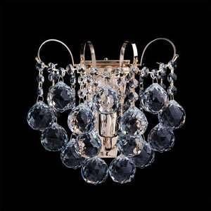 MW-Light Applique exceptionnelle de style baroque et magnifique avec armature en métal couleur et plafonnier en cristal, pour salon cuisine ou chambre 1 ampoule non incl. 1 x 60W E14 230V