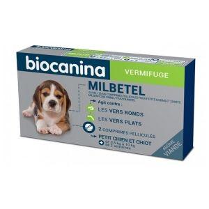 Biocanina Milbetel 2,5 mg/25 mg comprimés pelliculés pour petits chiens et chiots