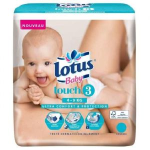 Lotus Baby Touch taille 3 (4-9 kg) - 44 couches