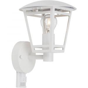 Brilliant AG BRILLIANT Applique extérieure avec détecteur Riley 40W - En métal et verre - Culot : E27 - Puissance : 40W - Coloris : blanc.