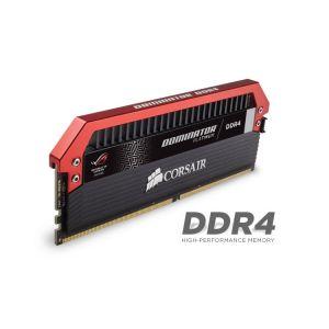 Corsair CMD16GX4M4B3200C16 - Barrette mémoire Dominator Platinum ROG 16 Go (4x 4 Go) DDR4 3200 MHz CL16