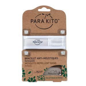 Parakito Bracelet blanc répulsif naturel 2 recharges