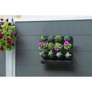 Nature Kit tableau floral en acier 60xH50cm - Noir