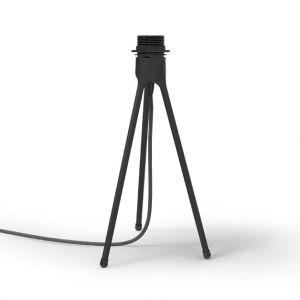 Vita Trépied en métal noir , 2 m cordon en tissus Tripod Table - Trépied en métal noir mat , 2 m cordon en tissus Tripod Table