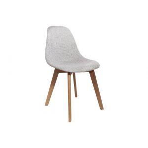 AC-Déco Chaise design - Assise en grosse maille - Gris