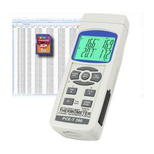 PCE Instruments Thermomètre enregistreur 4 canaux PCE-T390