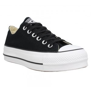 Converse Chuck Taylor CTAS Lift Ox Canvas, Chaussures de Fitness Femme, Noir (Black/Garnet/White 001), 36 EU