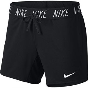 Nike W NK Dry Short Attk Tr5 Sport Femme, Noir (Black/White 011), 32 (Taille Fabricant: X-Small)