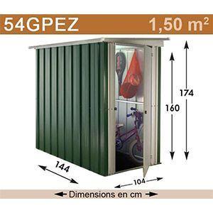 Yardmaster 54PEZ - Abri de jardin en métal 1,50 m2