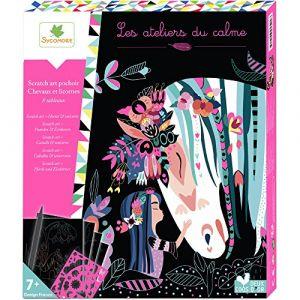 Sycomore Les ateliers du calme : Scratch art chevaux et licornes