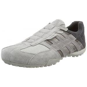 Geox Uomo Snake F, Sneakers Basses Homme, Gris (Lt Grey), 45 EU