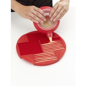 Lékué Moule sticks pour cuisson au micro ondes en silicone