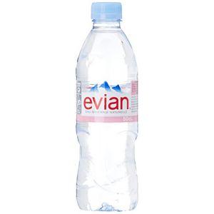 Evian Eau minérale naturelle - Les 6 bouteilles de 50cl