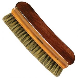 Domergue Brosse à vêtements cintré vernie - fibre de soie - gris