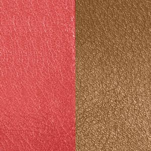 Les Georgettes Cuir Boucles D'Oreilles - Vinyle Orange Brun Rose Femme