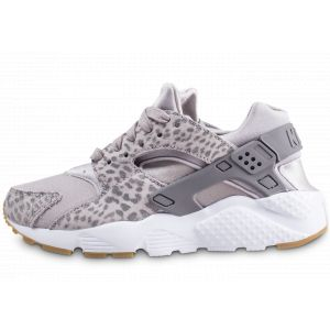sale retailer 75256 f88ac Nike Air Huarache Run Gris Léopard Baskets Rétro-Running Baskets Enfant