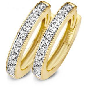 Blush bijoux Boucles d'oreilles Blush 71639BZI - Anneaux or jaune 10,22 mm et oxydes de zirconium 2 mm