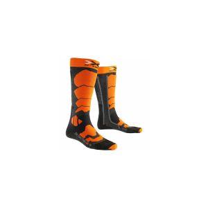 X-Socks Chaussettes Ski Control 2.0 Anthracite/orange