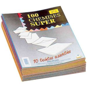Rainex 100 chemises dossiers Super carte 250g (24 x 32 cm)