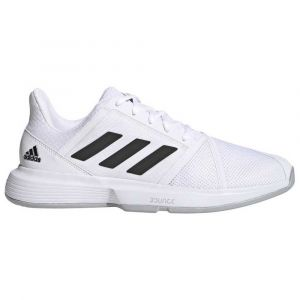 Adidas Baskets tenis Courtjam Bounce - Footwear White / Core Black / Metal Silver - Taille EU 43 1/3