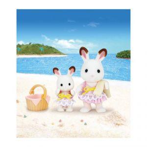 Epoch Sylvanian Families 5233 - Soeurs lapin chocolat bord de mer