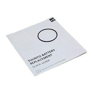 Suunto Kit de Remplacement Core/Essential: Joint circulaire et Guide d'Images, Core, Essential, Lumi, T4, T3 et T1, SS023326000
