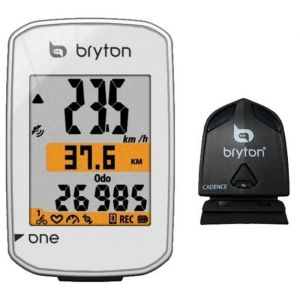 Bryton Compteur GPS Rider One avec capteur de Cadence, Blanc, ND