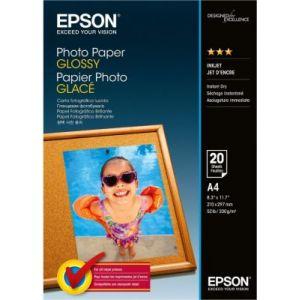 Epson C13S042538 Lot de 20 Papiers Photos Glacé A4 20 Feuilles