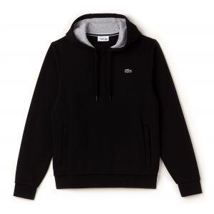 Lacoste Sport - Sweat-shirt à Capuche Homme - Multicolore (Noir/Argent Chine) - Large (Taille Fabricant : 5)