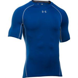 Under Armour Maillot de compression manches courtes heatgear armour bleu s