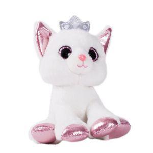 Soft Friends Chat blanc pailleté 16 cm