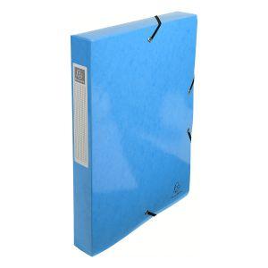 Exacompta 59927E - Boîte de classement carte IDERAMA, dos de 40, coloris bleu clair